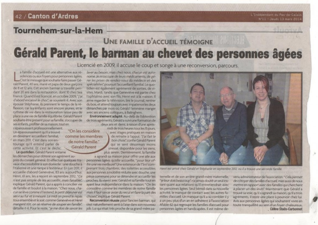 article de l'independant du 13 MARS 2014 gerald parent  (2)